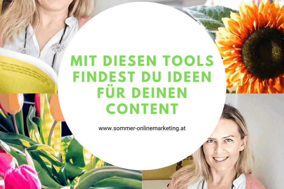 Ideen für Content finden mit Tools