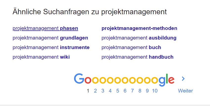 Google Suggest Ideen finden