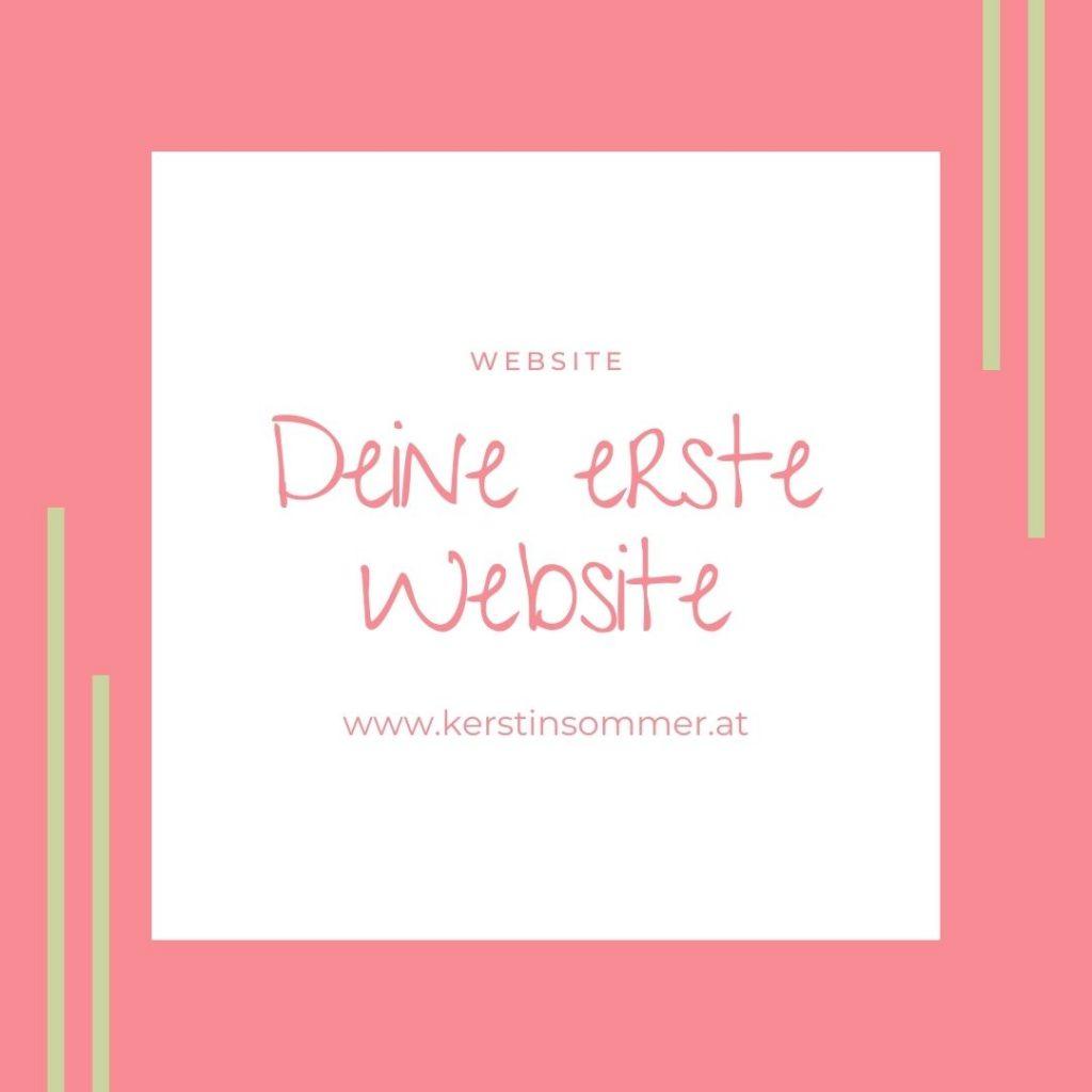 Dein erste eigene Website