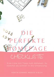 kostenlose Checkliste für deine Homepage