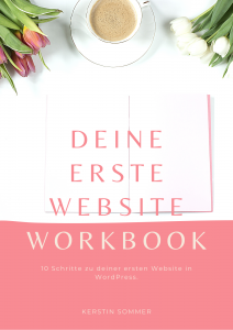 kostenloses Workbook für deine erste Website