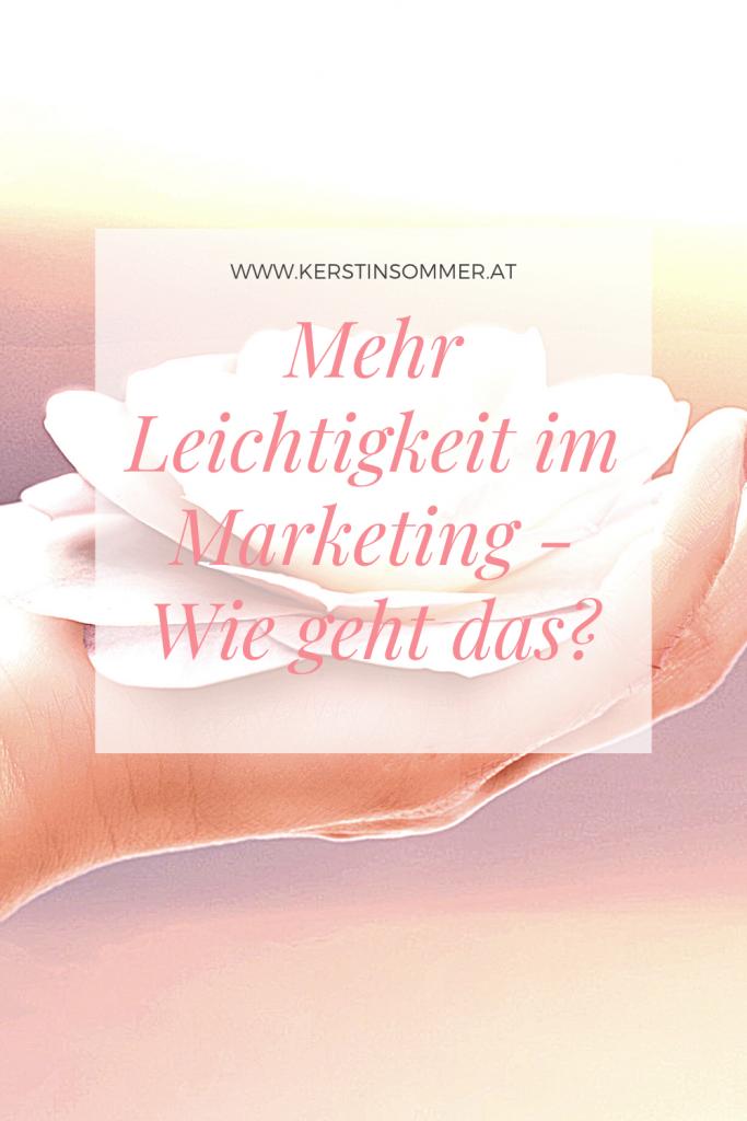 Leichtigkeit ins Marketing bringen