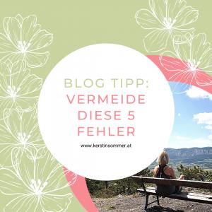 Blog Tipps für Anfänger