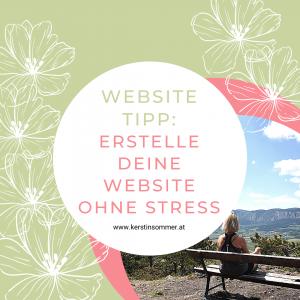 Website ohne Stress erstellen
