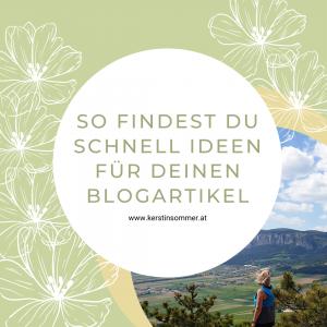 Ideen für Blogartikel finden